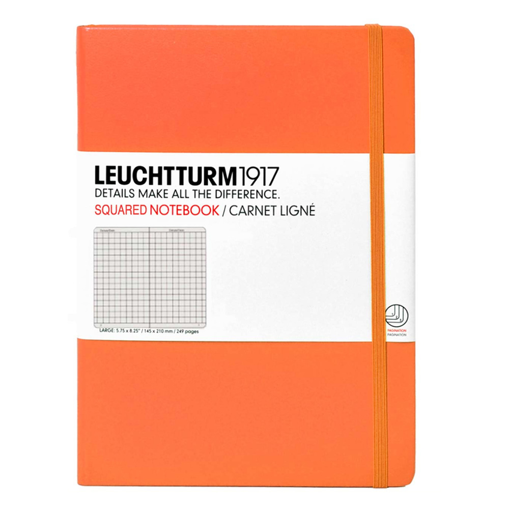 Leuchtturm Medium Hardcover Squared Orange
