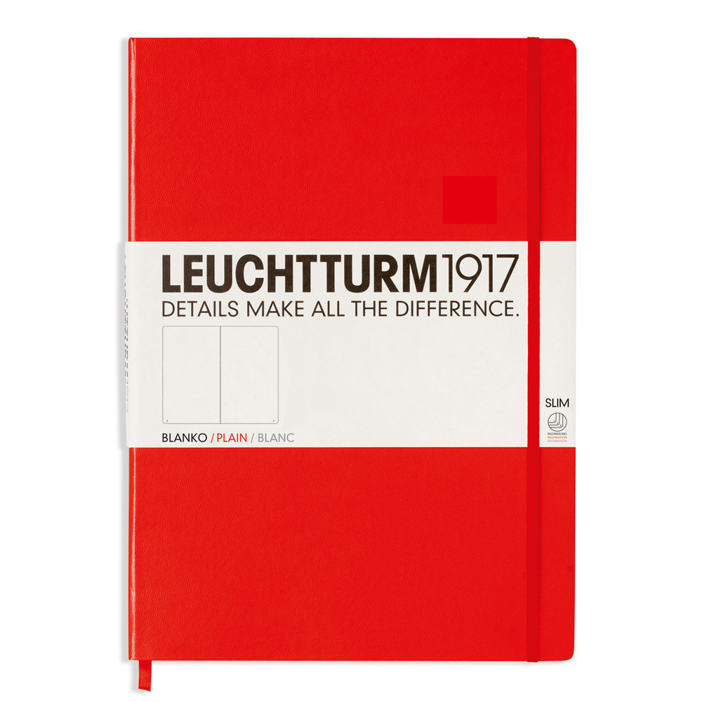 Leuchtturm Slim Master Hardcover Plain Red