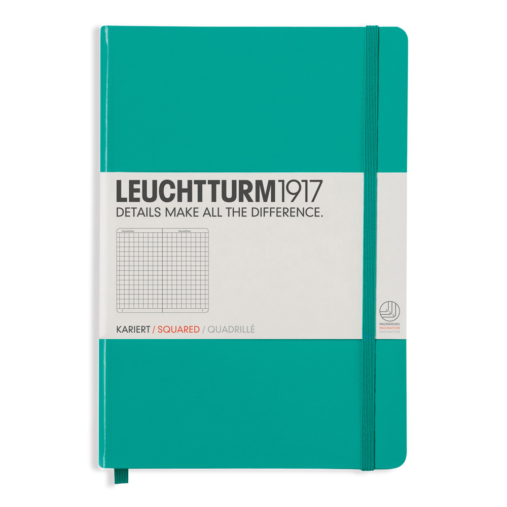 Leuchtturm Medium Hardcover Squared Emerald