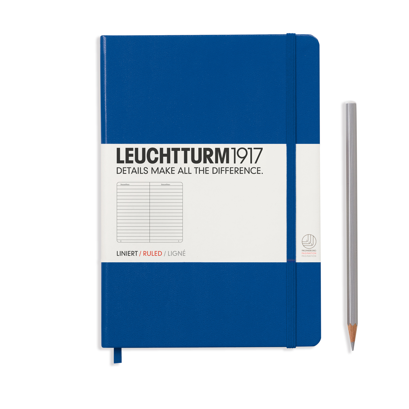 Leuchtturm Medium Hardcover Lined Royal Blue