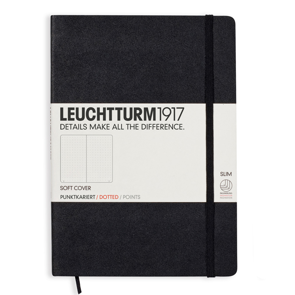 Leuchtturm Medium Soft Cover Dots Black