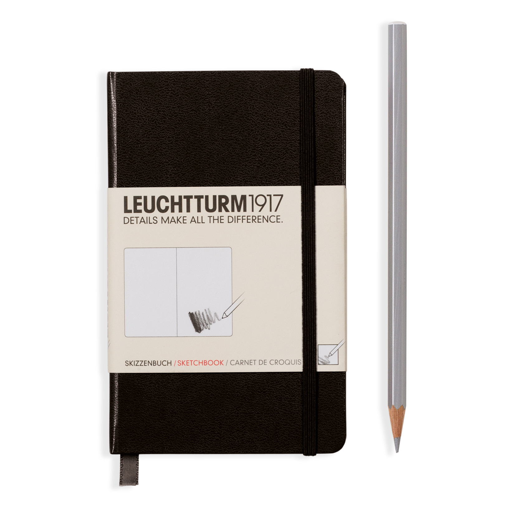 Leuchtturm Hardcover Pocket Sketchbook Black