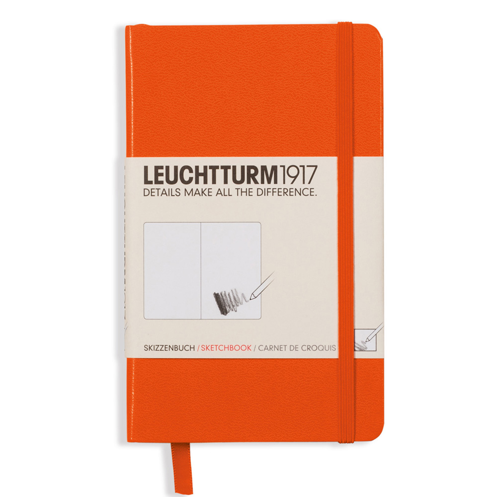 Leuchtturm Hardcover Pocket Sketchbook Orange