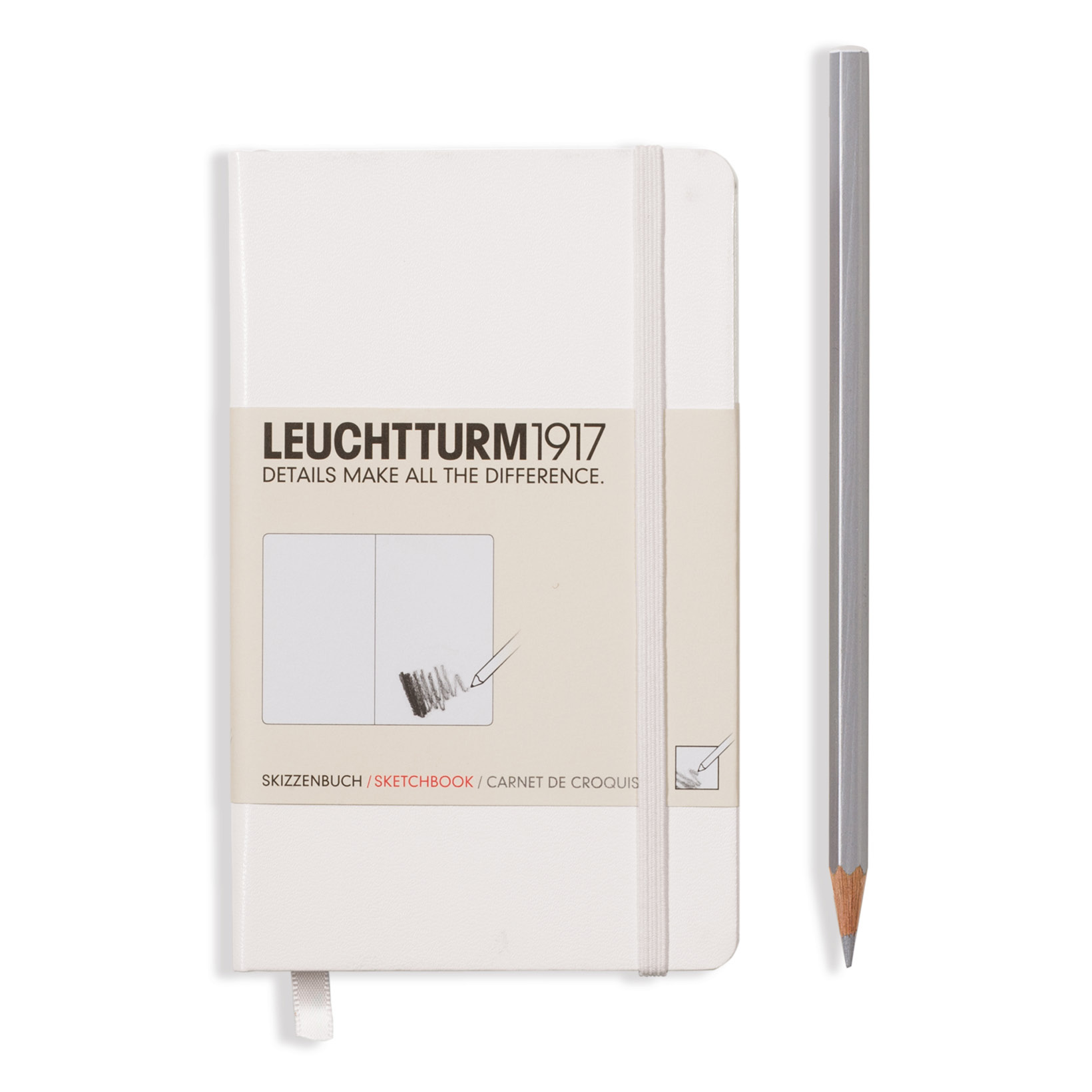 Leuchtturm Hardcover Pocket Sketchbook White