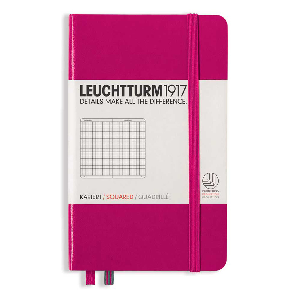 Leuchtturm Pocket Hardcover Squared Berry