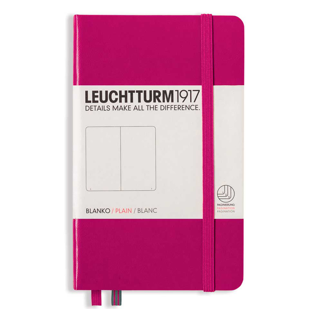 Leuchtturm Pocket Hardcover Blank Berry