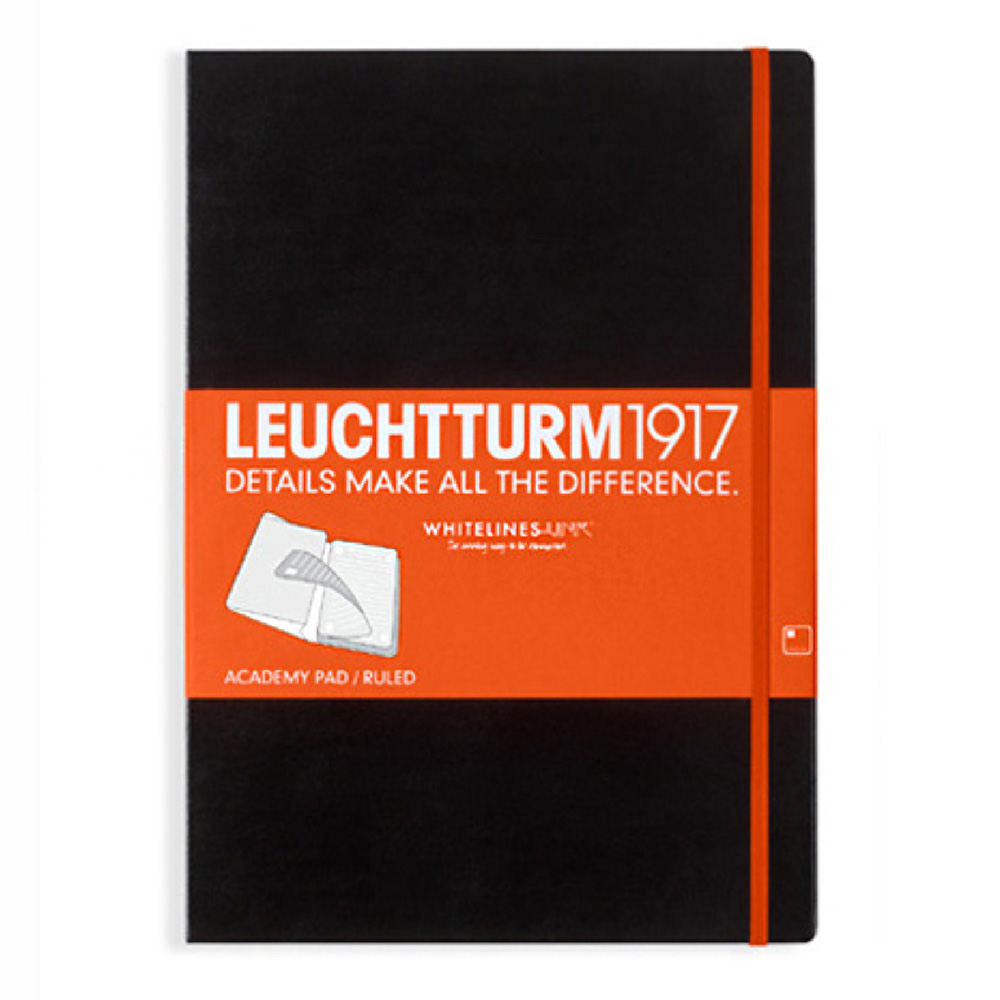 Leuchtturm Whitelines Link Black Large Ruled