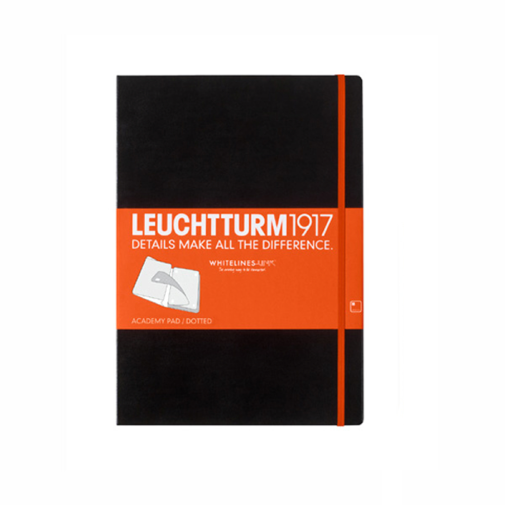 Leuchtturm Whitelines Link Black Large Dots