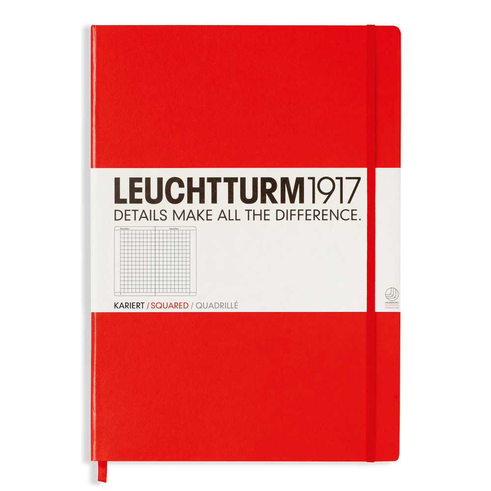 Leuchtturm Master Hardcover Squared Red