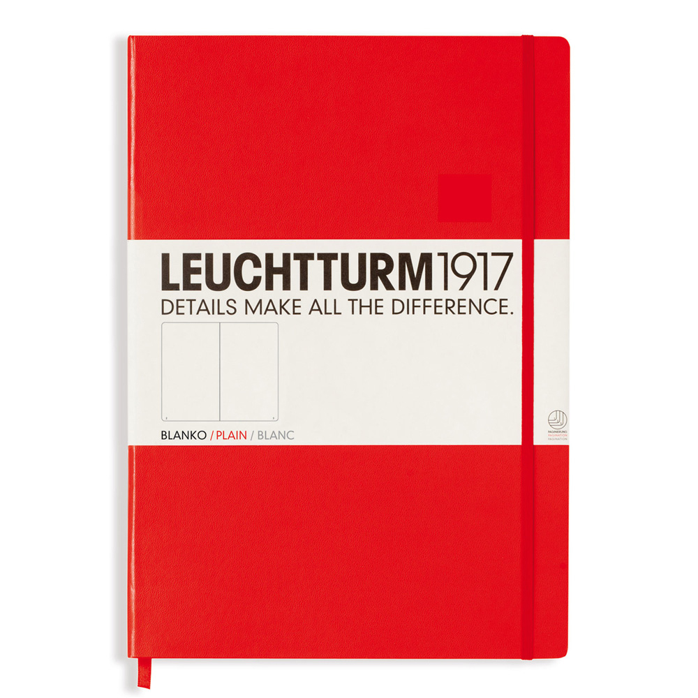 Leuchtturm Master Hardcover Plain Red