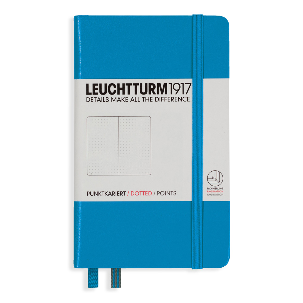 Leuchtturm Pocket Hardcover Dots Azure