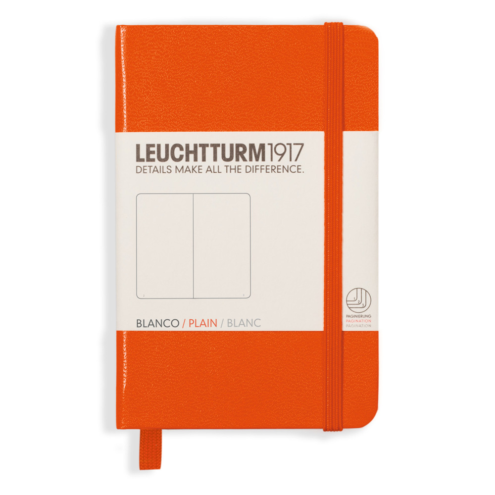 Leuchtturm Mini Hardcover Blank Orange