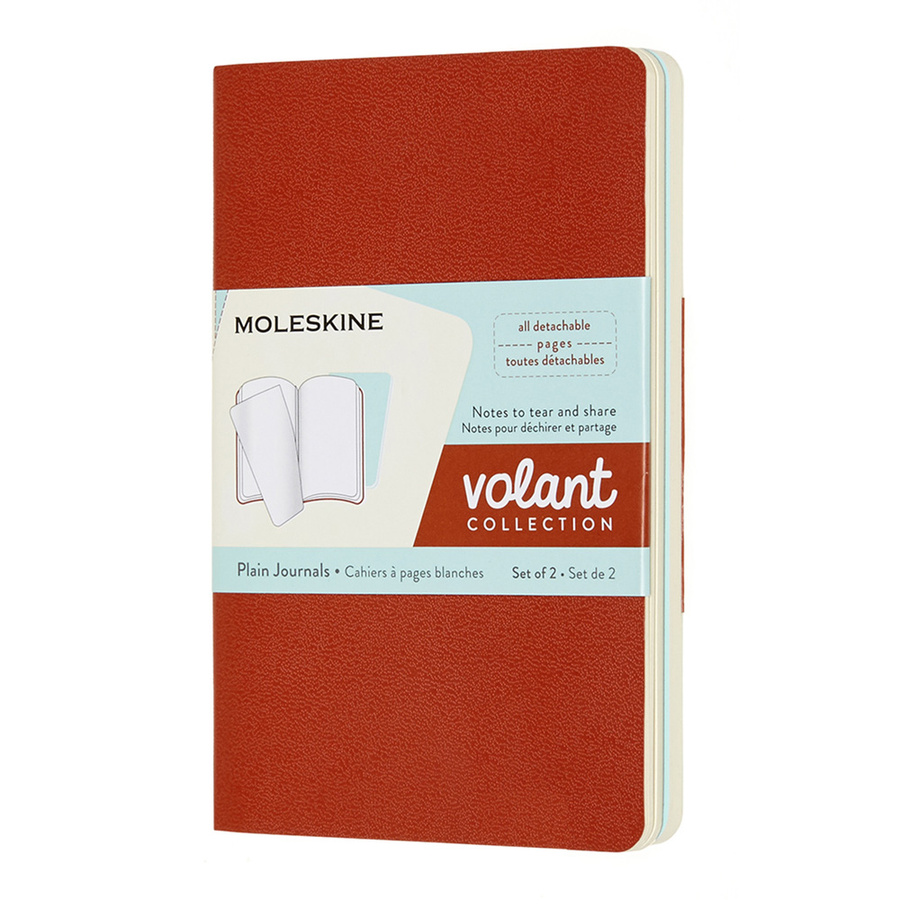 Moleskine Volant Pocket Plain Set Coral/Aqua
