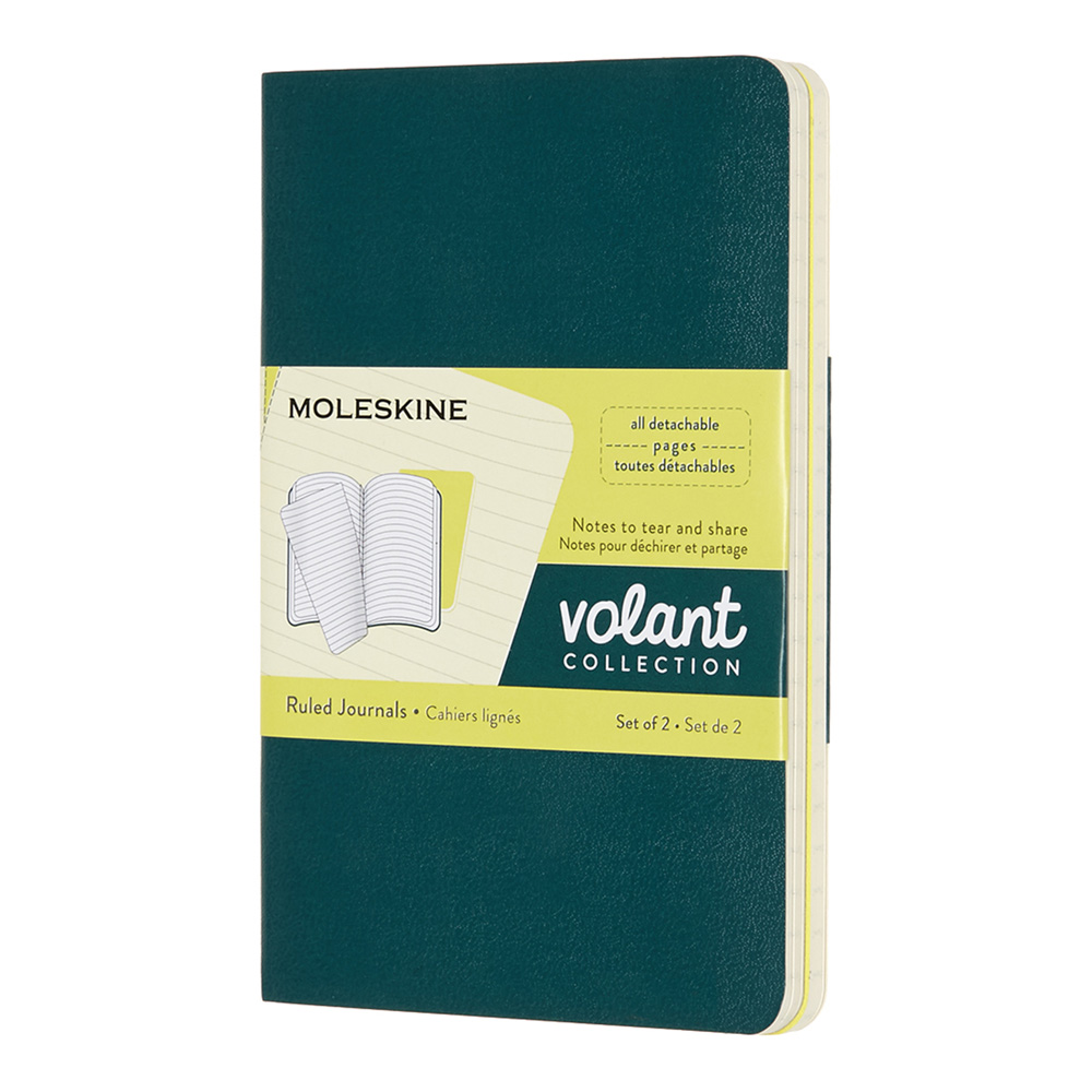 Moleskine Volant Pocket Plain Set Pine/Lemon