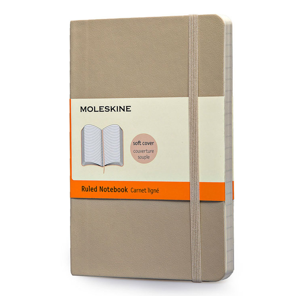Moleskine Pocket Soft Khaki Notebook Ruled