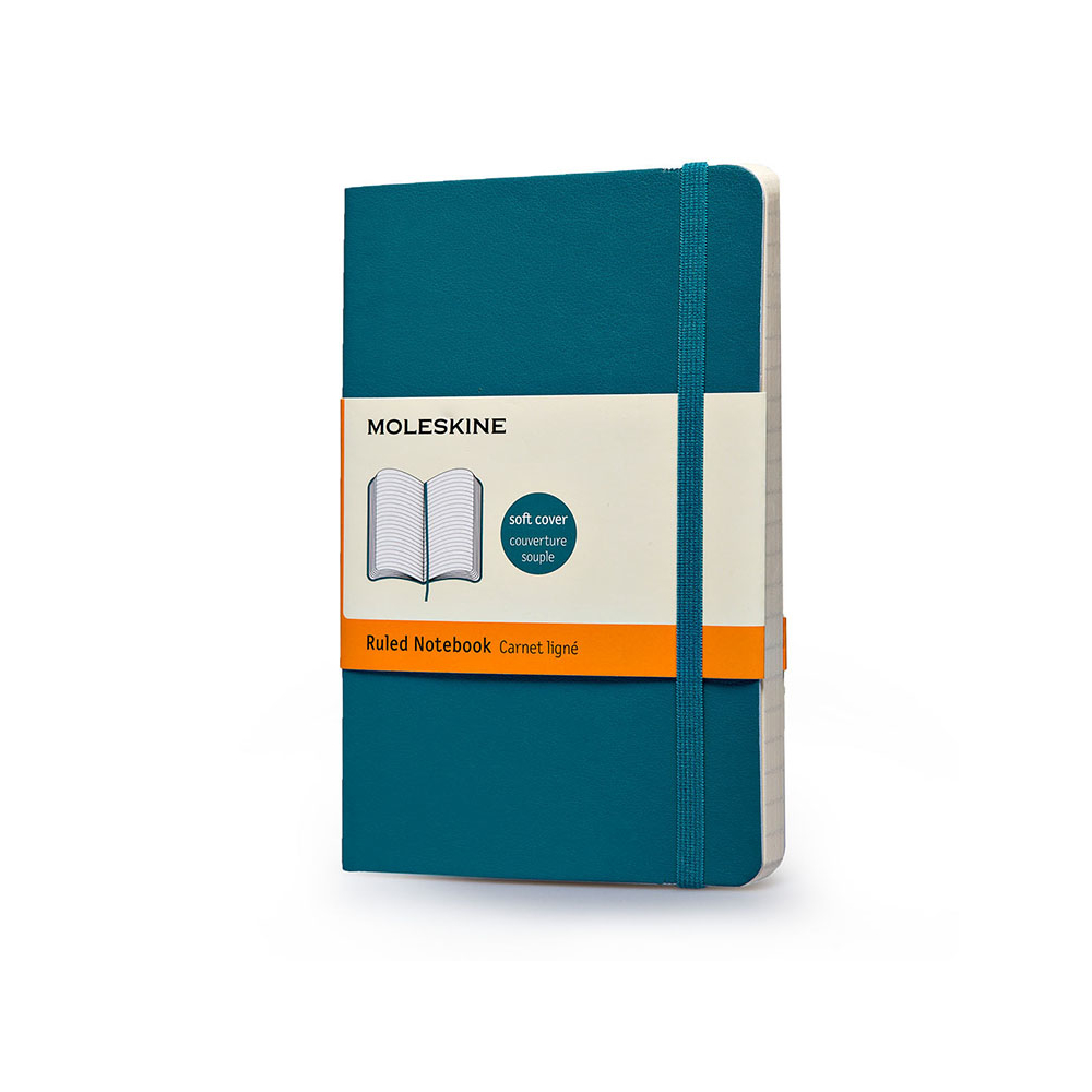 Moleskine Pocket Soft Blue Notebook Ruled