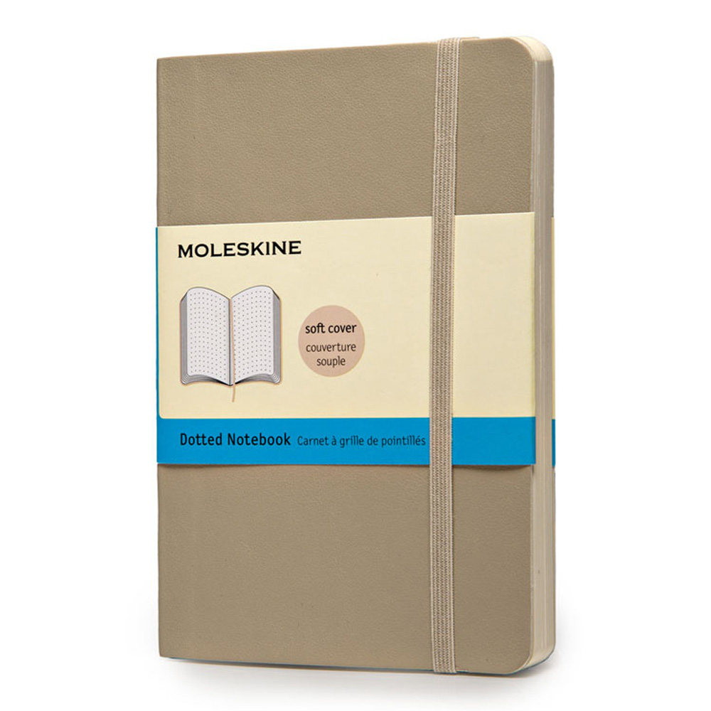 Moleskine Pckt Softcover Dot Khaki Notebook