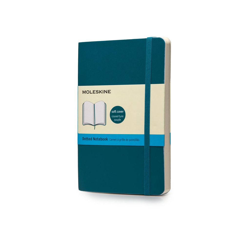 Moleskine Pckt Softcover Dot Blue Notebook