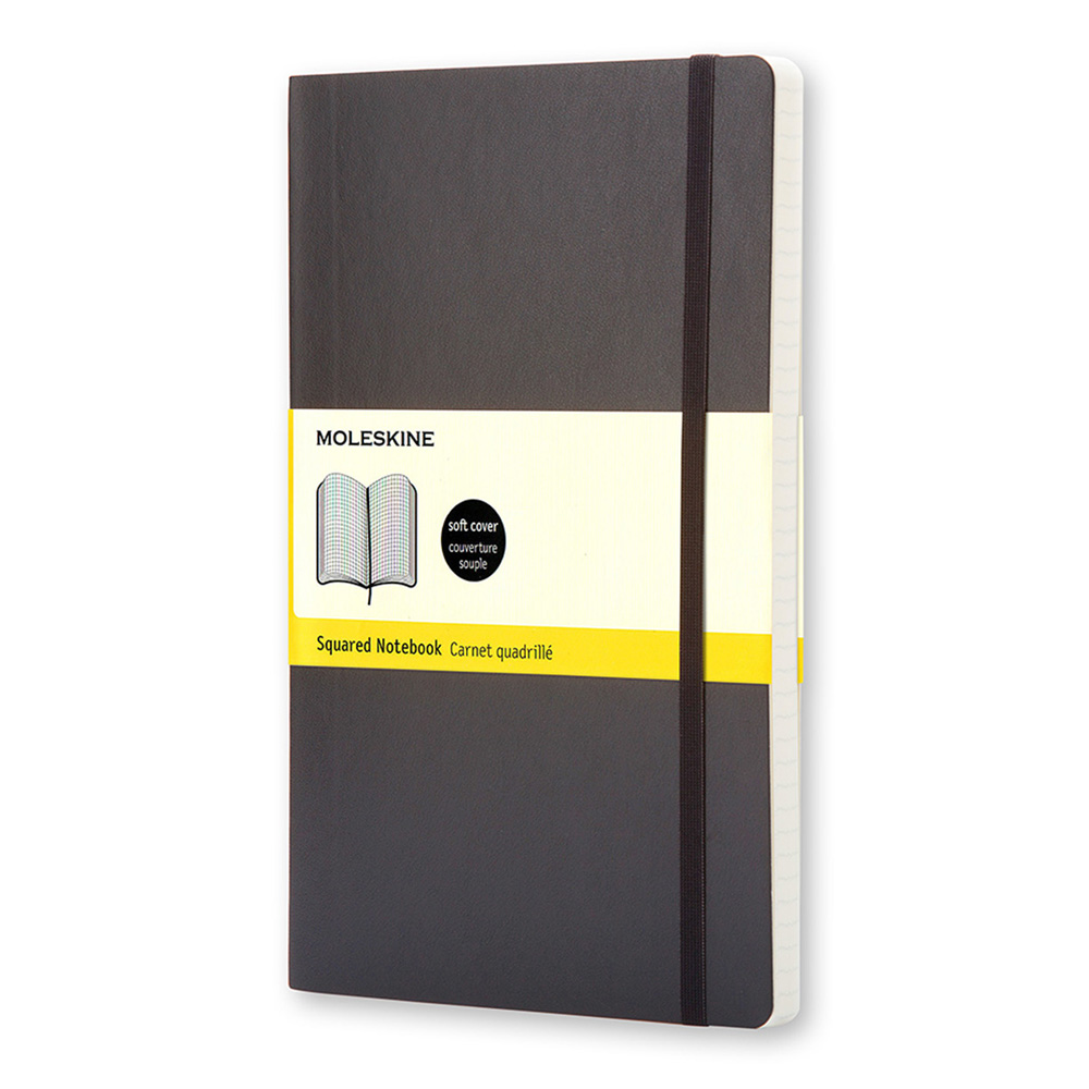 Moleskine Lg Softcover Ruled Ntbk Black