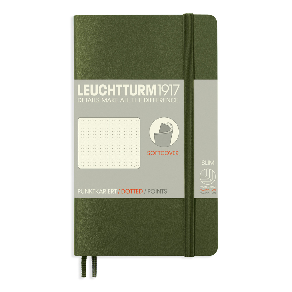 Leuchtturm Pocket Soft Cover Dots Army