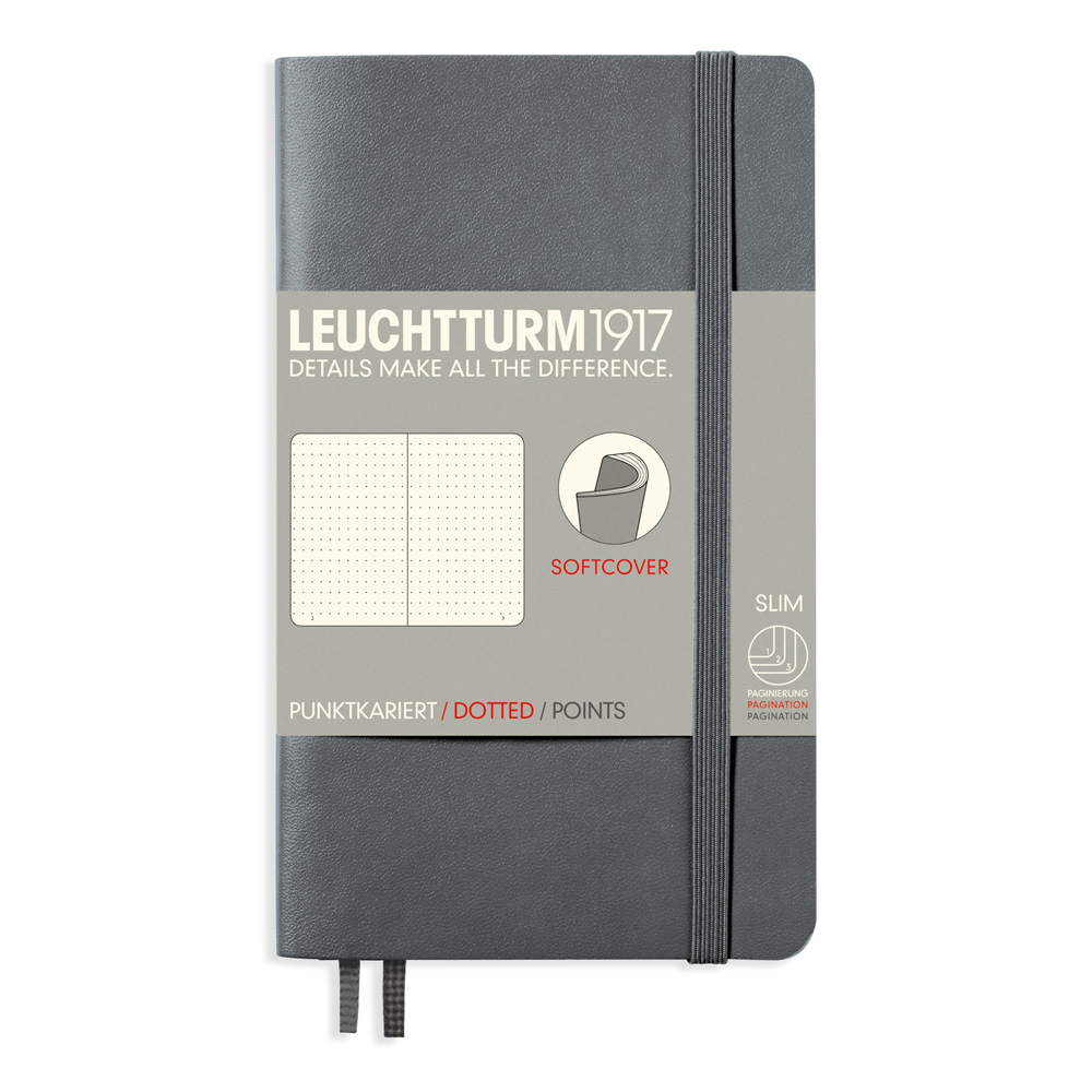Leuchtturm Pocket Soft Cover Dots Anthracite