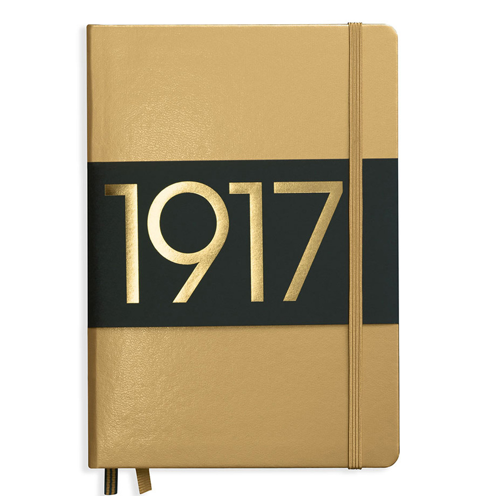 Leuchtturm Medium Hardcover Plain Gold