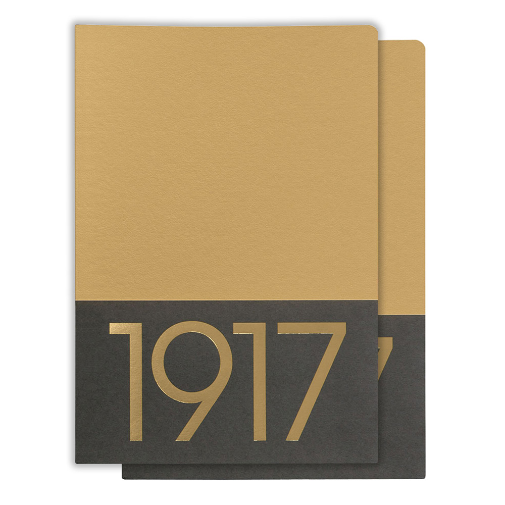 Leuchtturm Medium Jottbook Ruled Gold 2Pk