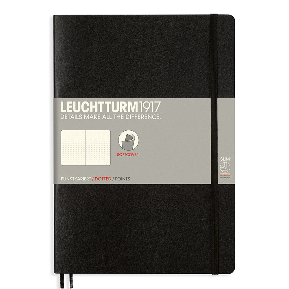 Leuchtturm Soft B5 Notebook Dots Black