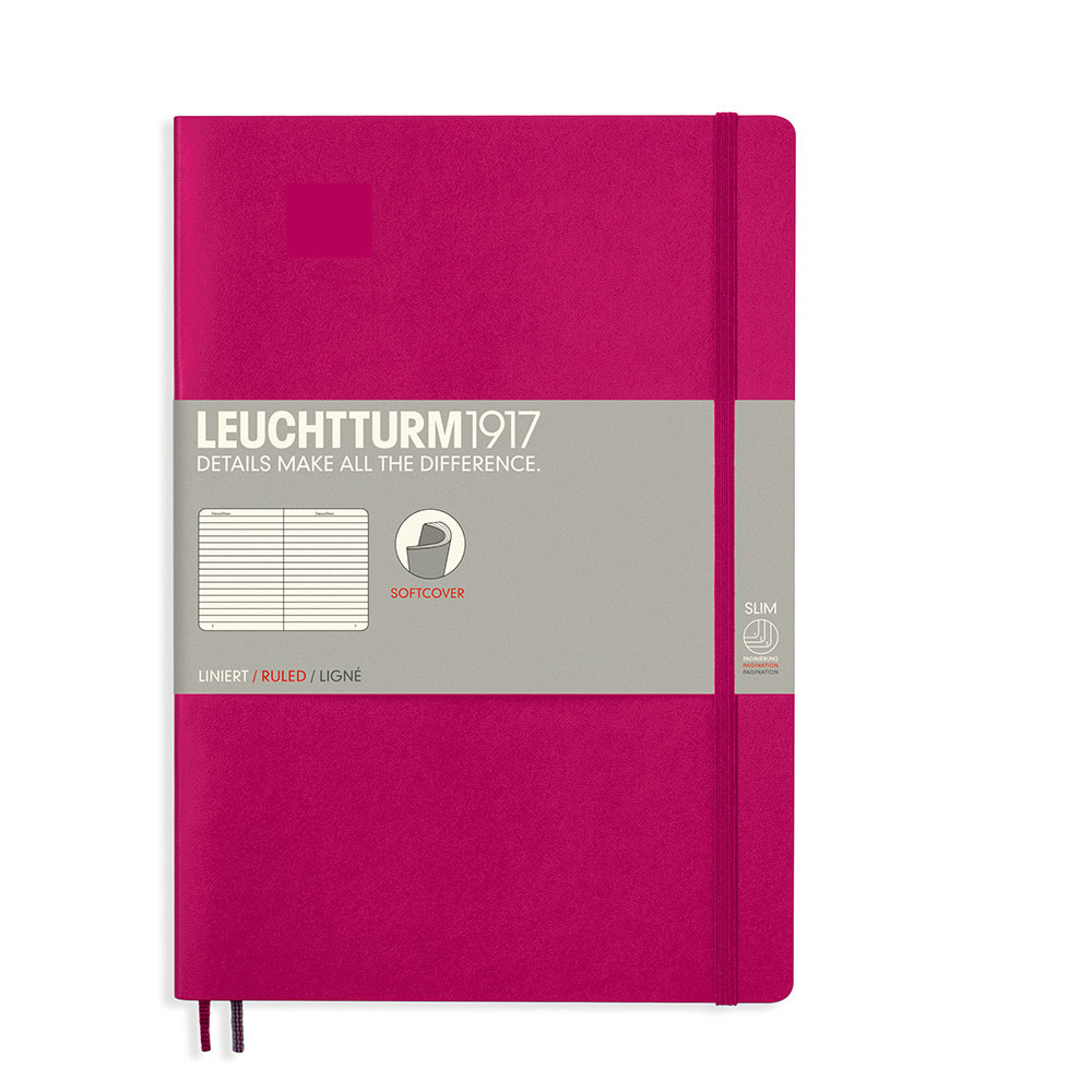 Leuchtturm Soft B5 Notebook Ruled Berry
