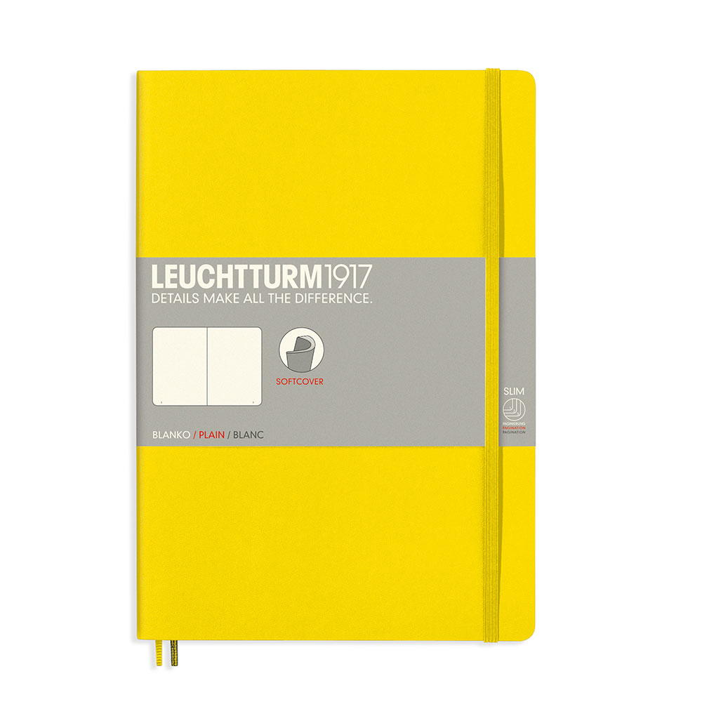 Leuchtturm Soft B5 Notebook Blank Lemon