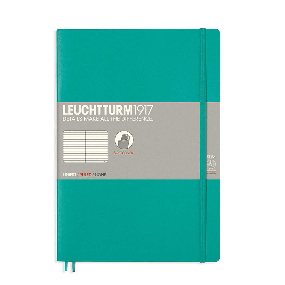 Leuchtturm Soft B5 Notebook Ruled Emerald