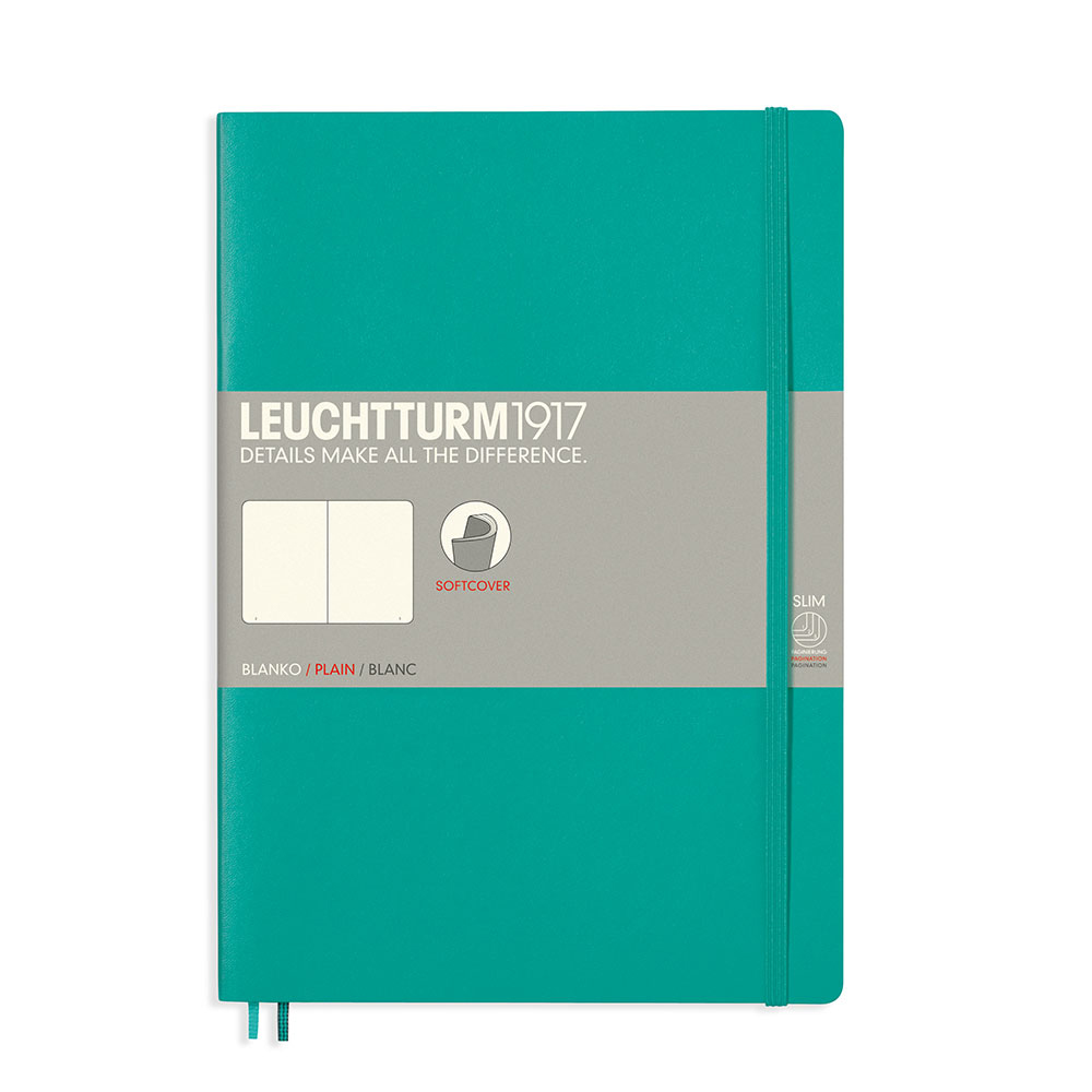 Leuchtturm Soft B5 Notebook Blank Emerald