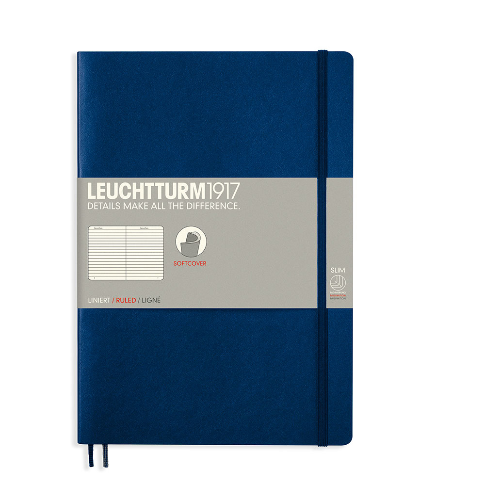 Leuchtturm Soft B5 Notebook Ruled Navy