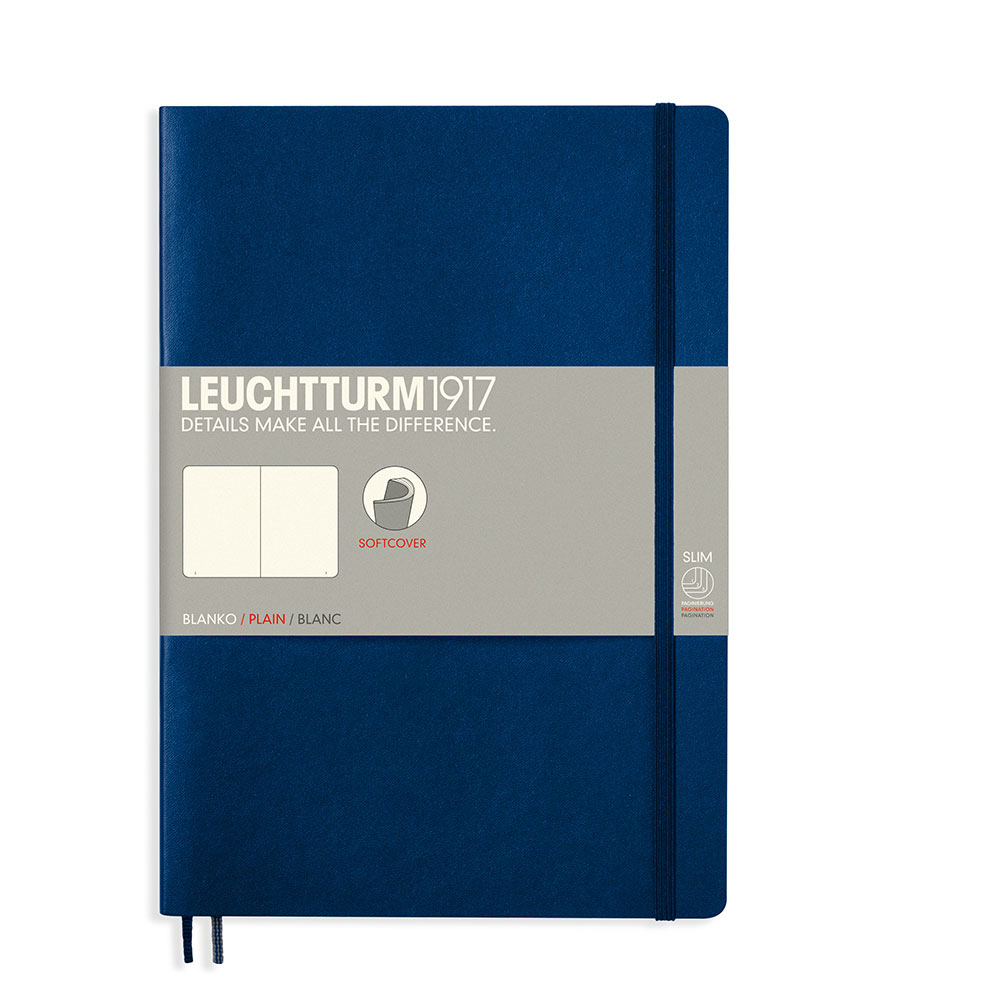 Leuchtturm Soft B5 Notebook Blank Navy