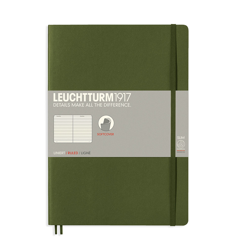 Leuchtturm Soft B5 Notebook Ruled Army