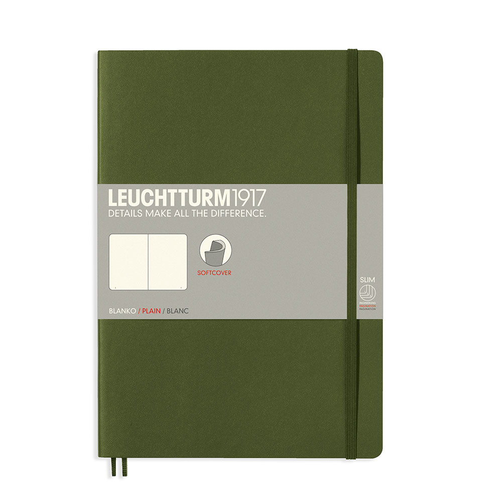 Leuchtturm Soft B5 Notebook Blank Army