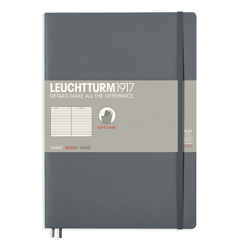 Leuchtturm Soft B5 Notebook Ruled Anthracite