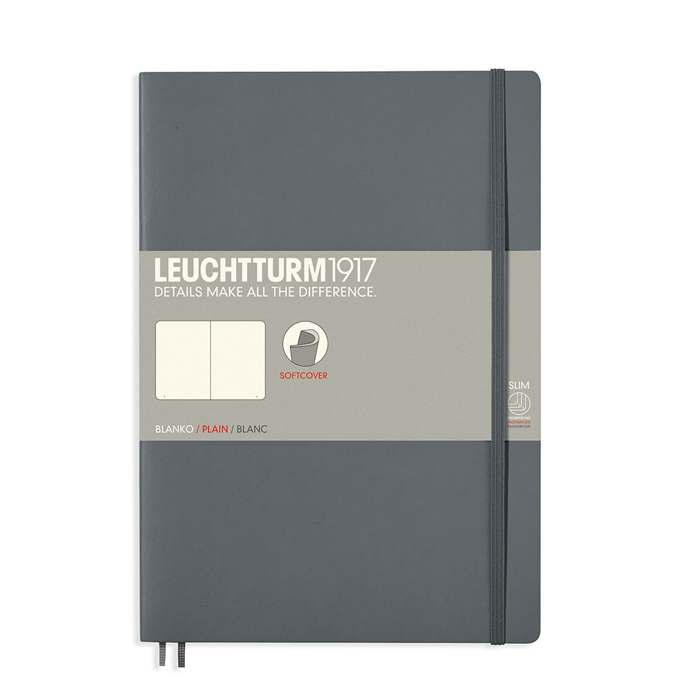 Leuchtturm Soft B5 Notebook Blank Anthracite