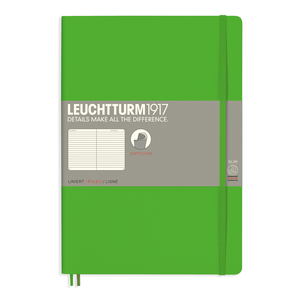 Leuchtturm Soft B5 Notebook Ruled Fresh Green