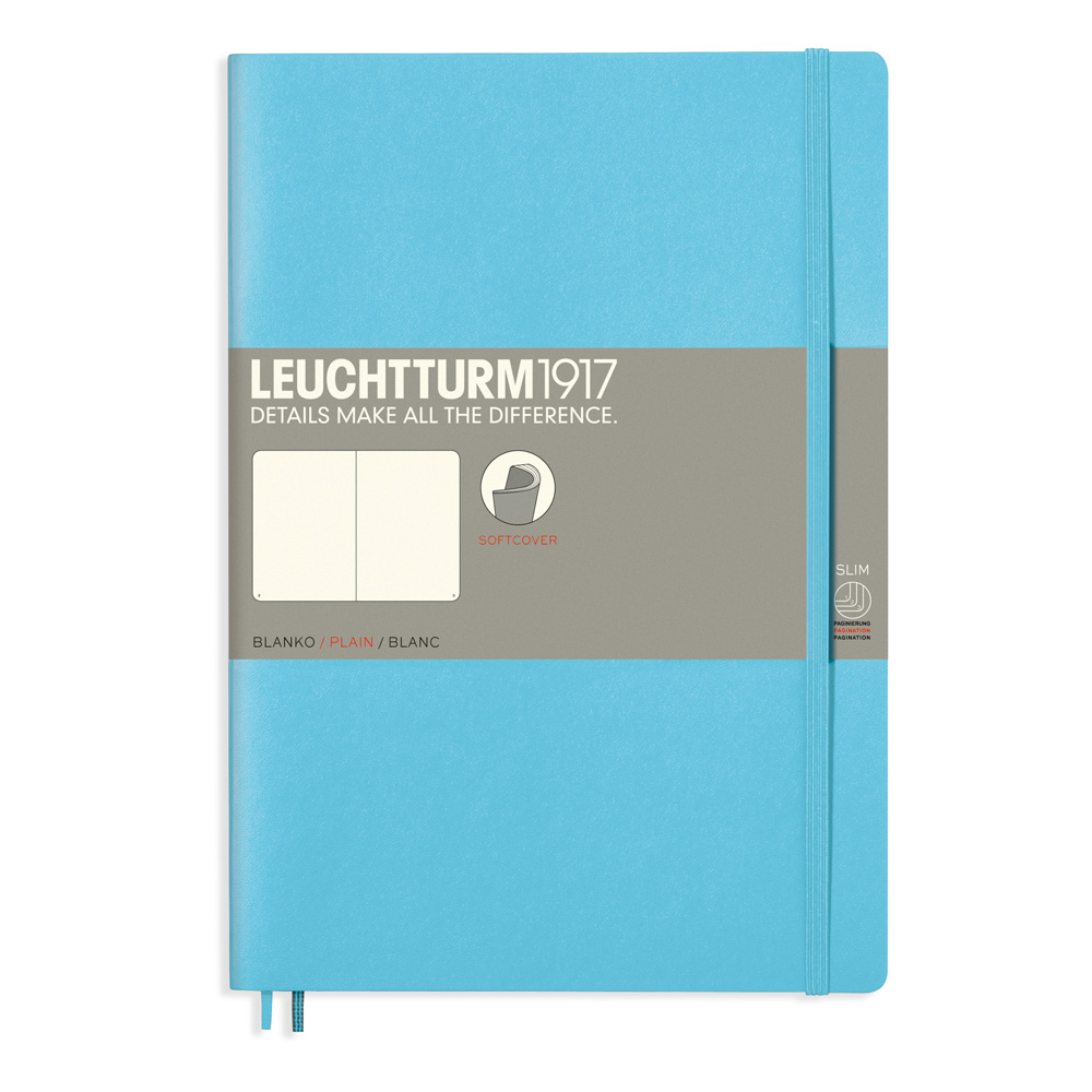 Leuchtturm Soft B5 Notebook Blank Ice Blue