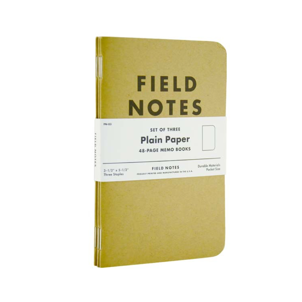 Field Notes Kraft Plain 3-Pack