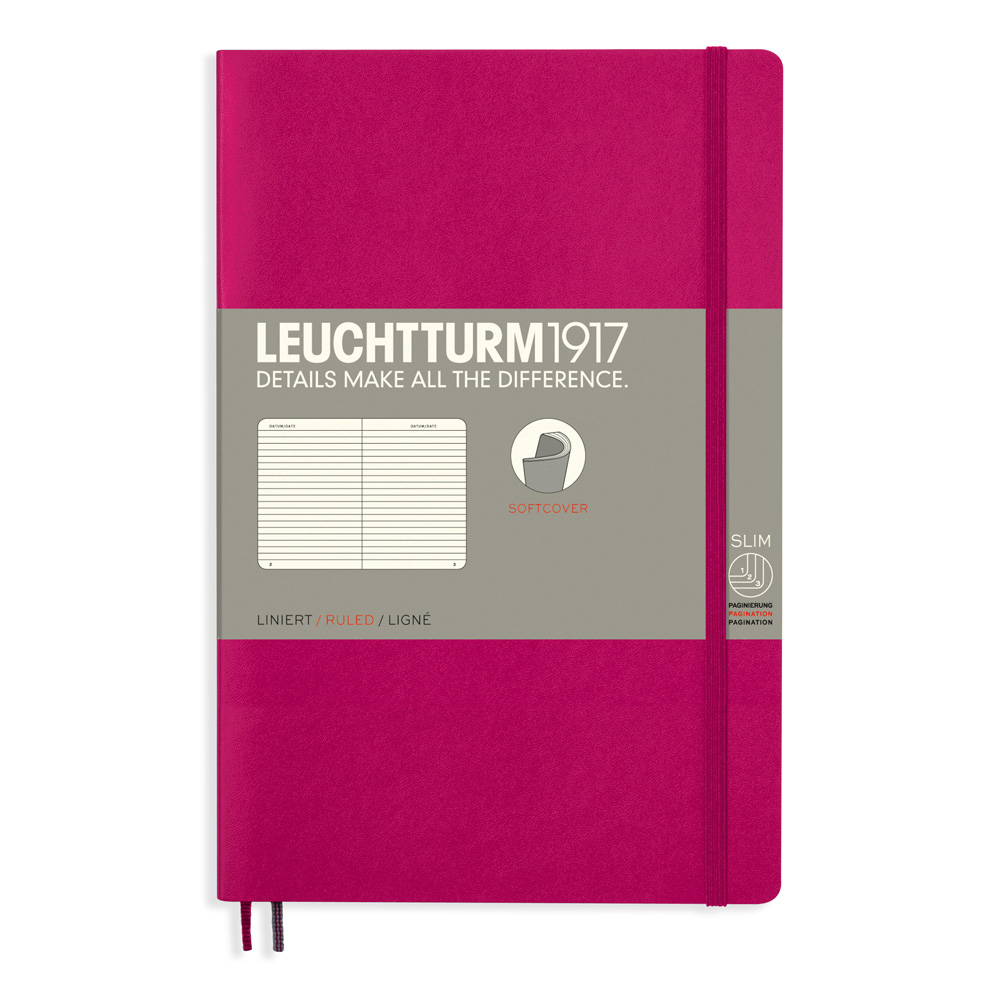 Leuchtturm Soft B6 Notebook Ruled Berry