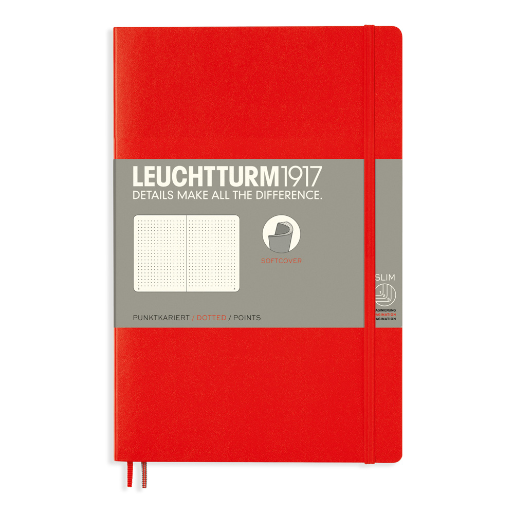 Leuchtturm Soft B6 Notebook Dots Red