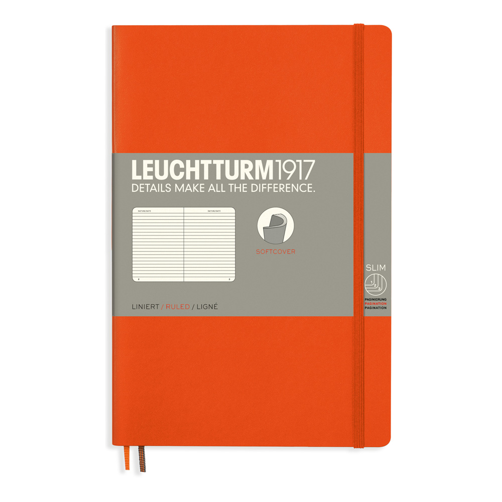 Leuchtturm Soft B6 Notebook Ruled Orange