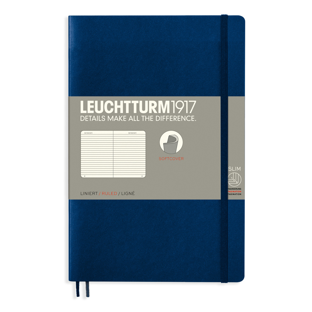 Leuchtturm Soft B6 Notebook Ruled Navy