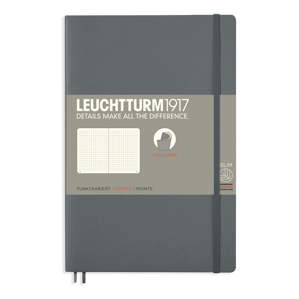 Leuchtturm Soft B6 Notebook Dots Anthracite