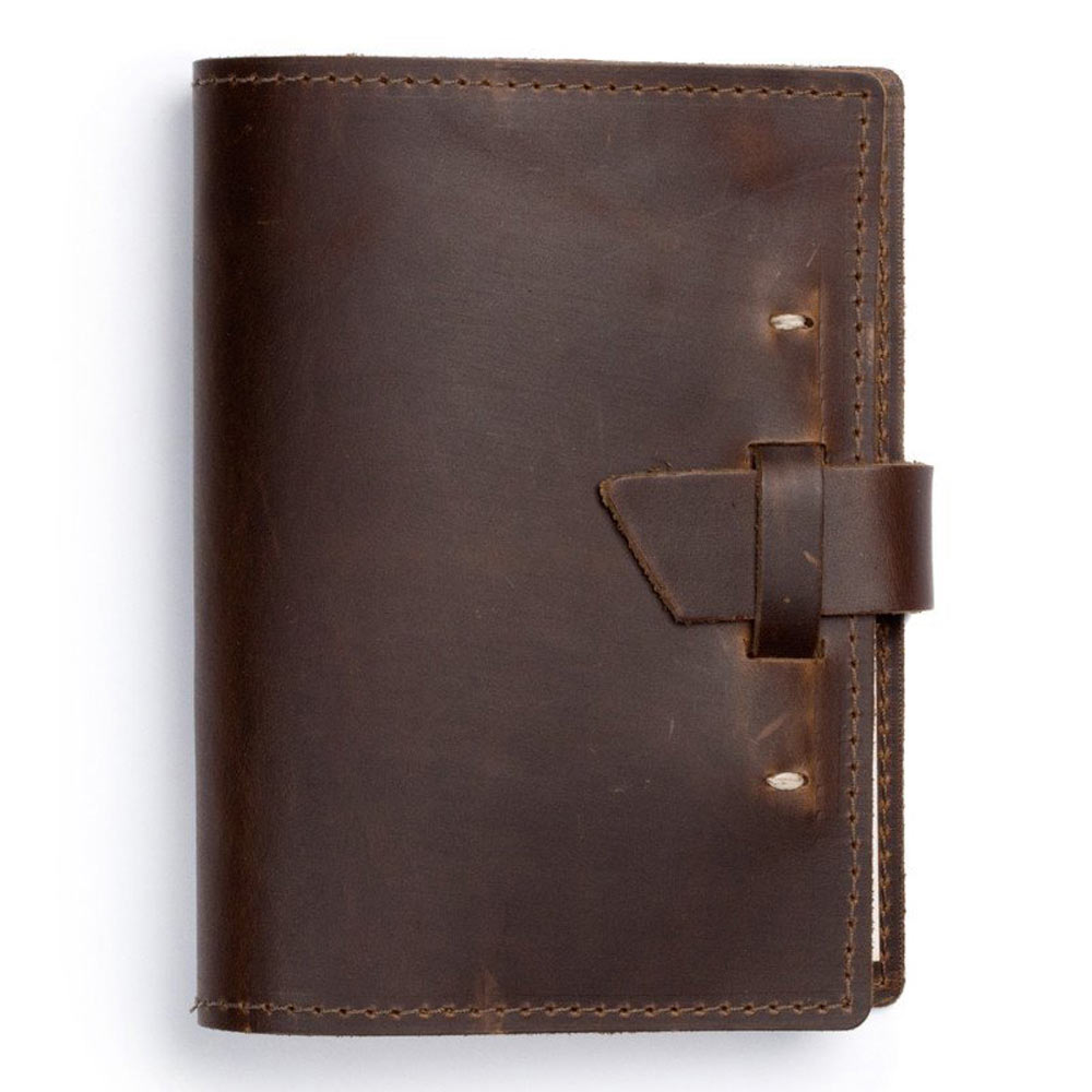 Rustico Wasatch Leather Journal Dark Brown