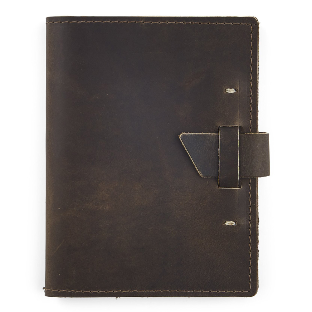 Rustico Wasatch Leather Journal Charcoal