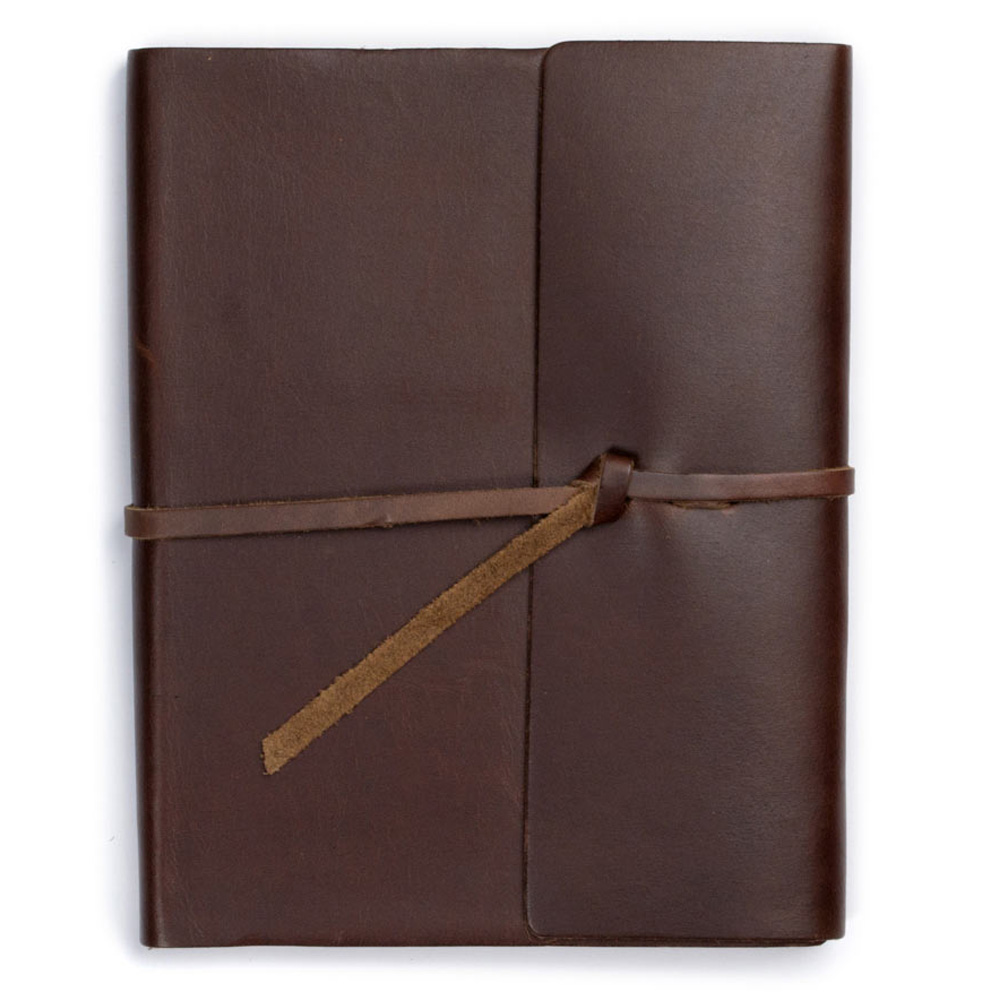 Rustico Writers Log Lrg Leather Journal Brown