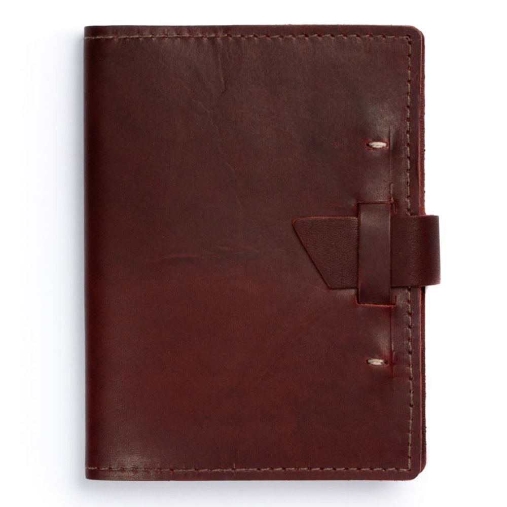 Rustico Wasatch Leather Journal Burgundy